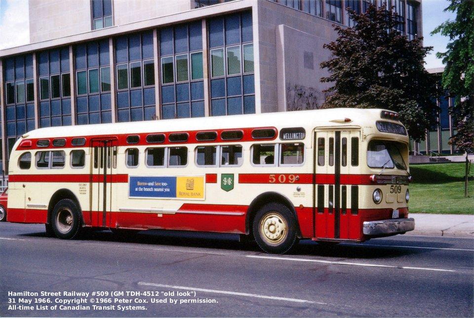 Transit History Of Hamilton Ontario
