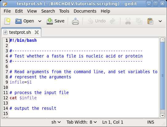 BIRCH Tutorial - Basic shell scripting
