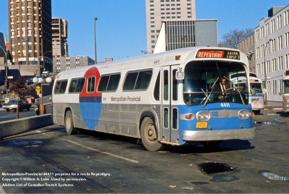 Transit History of the Banlieues de Montreal, Quebec