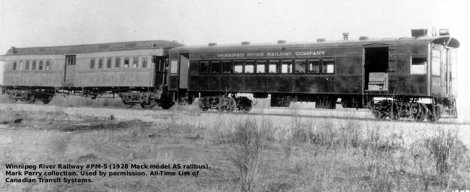 Winnipeg Electric Company Mack Rail Buses P M 5 And P M 6