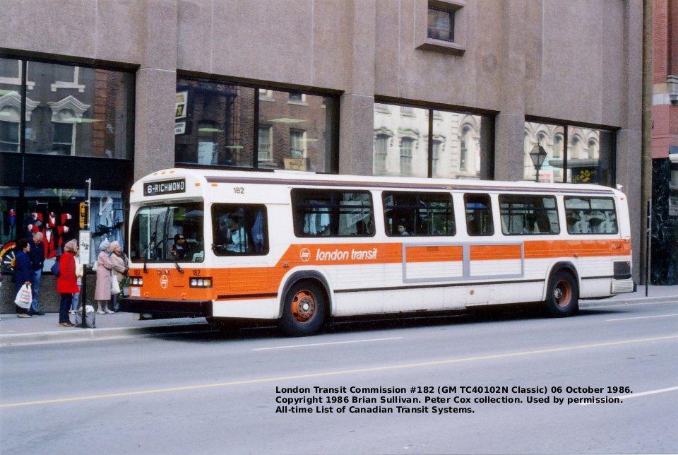 Transit History of London, Ontario