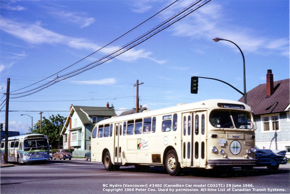 Transit History Of Vancouver British Columbia